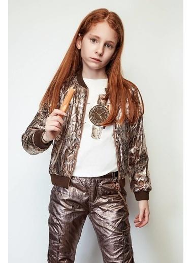 Tyess Kız Çocuk Desenli Ceket Renkli